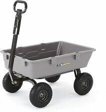 Carts GOR4PS Poly Garden Dump Cart with Steel Frame and 10-in. Pneumatic Tires