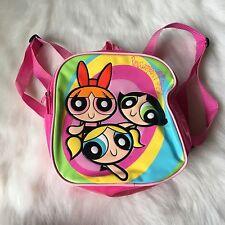 Vintage Pink Powerpuff Girls Mini Backpack Purse Bag Cartoon Network 90's