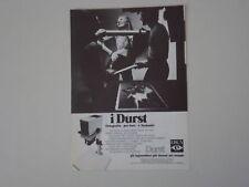 advertising Pubblicità 1973 INGRANDITORE DURST M 301