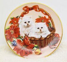 "KALENDAR KITTIES ""December"" MINI-PLATE Barbara Higgins FIRST ISSUE Plate 5273A"