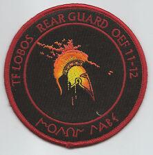 "TF LOBOS 2/227th ""REAR GUARD"" OEF 11-12 patch"