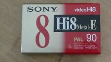 Cassette Tape Factory Sealed SONY Video Hi 8 Metal E Pal 90