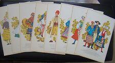Swedish folk costume card set Vintage Skona Svenska Sommar cards 1973 Sweden