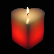 Romantico a forma di Cuore Candela di cera Inc Luci LED BELLA IDEA REGALO