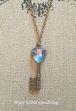 Tinkerbell Tinks Image Bronze Tone Key Pendant Necklace Cute Disney Door Fairy