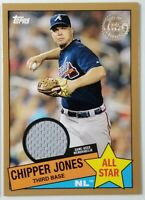2020 Topps Series 2 CHIPPER JONES 1985 Gold All-Star Relic /50 HOF Braves +BONUS