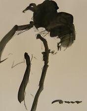 "JOSE TRUJILLO NEW Minimalist ACRYLIC on Paper PAINTING 11x14"" FIGURATIVE ART"