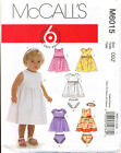 Mccall's Sewing Pattern 6015 Baby Sz Sm-xl Lined Dresses Nappy Covers Headband