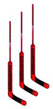 """3 New Warrior Ritual Cr3 goal stick red mid Sr 27"""" left senior hockey goalie Lh"""