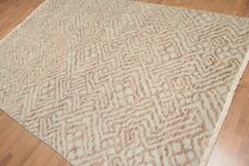 6' x 9' Hand Knotted Abstract Geometric 100% Wool Area rug AOR8565