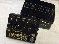 Tech 21 Nyc Sansamp V2 Bass Driver Di Box Award Winning Bass Guitarists Tool