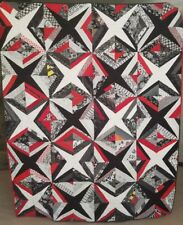 Red and Black Stars Bed Quilt