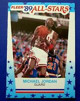 1989-90 FLEER All-Stars Sticker MICHAEL JORDAN BASKETBALL CARD #3 ~ NM/MT