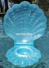 HQG1C Vintage G1 My Little Pony Style Sea Glimmers Clam Shell 💜BLUE PEARL💜