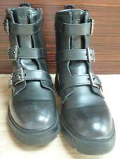 Wrangler Damen Boots Stiefel 39 / 39,5 Biker Schwarz Profilsohle