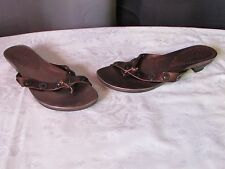 sandales tremp cuir marron cuivré 37