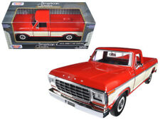 1979 Ford F-150 Custom Pickup Die-cast Truck 1:24 Motormax 8 inch Red and Cream