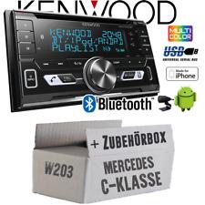 Kenwood Radio für Mercedes C-Klasse W203 Autoradio Bluetooth USB Apple Android