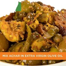 Home Made Mixed Pickle 500gm in Extra Virgin Olive Oil Achar,Free shipping world