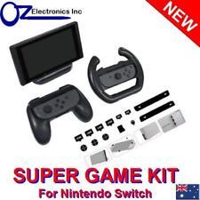 DOBE - Nintendo Switch SUPER GAME KIT Controller Grip Stand Steering Wheel Plugs