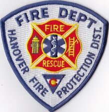 Hanover Fire Dept. Fire Protection District Firefighter Patch NEW!