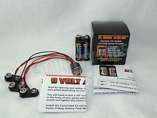 24 VOLT Mod Active Guitar Pickup Battery Pack ™ With Removable 9 Volt Switching