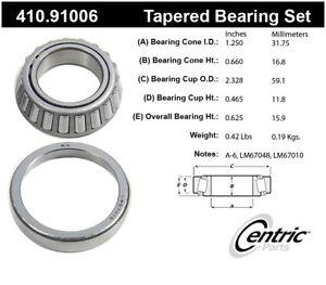 Wheel Bearing and Race Set-Premium Bearings Centric 410.91006