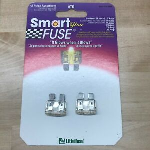 TWO (2X) Littlefuse Smartglow ATO 25 amp ATO Fuses - 100% new never used!
