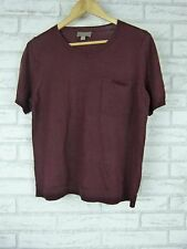 SUSSAN Knit Top Sz S Mulberry / Maroon Wool Mix