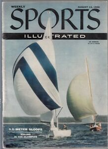 Sports Illustrated 1956 5.5 Meter Sloops Olympic Sailing No Label