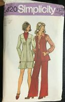 ⭐Simplicity 5920 Vintage Sewing Pattern Sz 8 Jacket Vest Pants Short Skirt ⭐