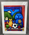 """Tim Shanley Art Print 8.5"""" x 11"""" Signed Numbered """"Cezanne'sTable"""" Dog Cat Soccer"""