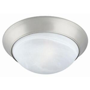 Design House Twist Off 2-Light Satin Nickel Ceiling Light