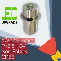 LED Conversion/upgrade bulb Torch/flashlight P13.5 Universal Non-Polarity CREE