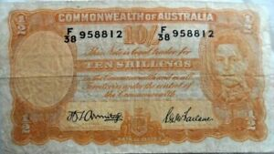 Australia - Ten (10) Shillings 1939