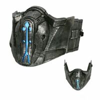 Xcoser Mortal Kombat Sub Zero Resin Cosplay Mask With Blue Light Game 1:1 Props