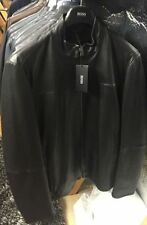 HUGO BOSS Leather Zip Neck Regular Coats & Jackets for Men
