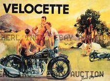 Velocette 350 KTS Vintage Motorcycle  Poster 1937 ca 8 x 10 print prent poster