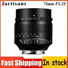 7artisans 75mm F1.25 Full Frame Manual Focus Lens for Leica M-Mount Cameras LJ