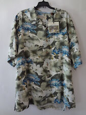 Tommy Bahama NEW  Mens  Button Down Shirt  MULTI COLOR 100% SILK 2XB