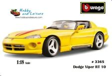 Bburago 3365 1/18 Dodge Viper RT 10 Yellow/Red Stripe Gold Collection