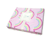 Pottery Barn Kids Pink Multi Color Rainbow Organic Cotton Twin Duvet Cover New