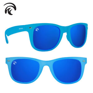 Waves Classic Floating Polarized Sunglasses- (Clear Blue/Ocean Blue)