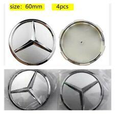 4 LOGO EMBLÈME MERCEDES 60mm caches moyeu jante, centre de roue Mercedes 60mm
