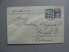 HUNGARY, uprated prestamped cover to the Netherlands 13-04-1920