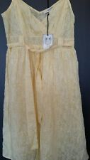 LADIES SUMMER LEAF CAMISOLE DRESS BY JUST JEANS SIZE 14 YELLOW RRP $129.95