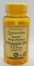 Puritan's Pride Vitamin D3 5000 IU 200 Softgels