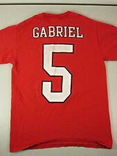 Vtg Portland Winterhawks #5 GABRIEL (Scott/Oliver?) Red T-Shirt Sz Small Unisex