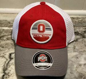 NEW Ohio State Buckeyes NCAA Trucker Mesh Back Hat Cap University Adjustable OSU