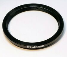 52mm to 46mm Step-down ring Metal adapter threaded for lens filter